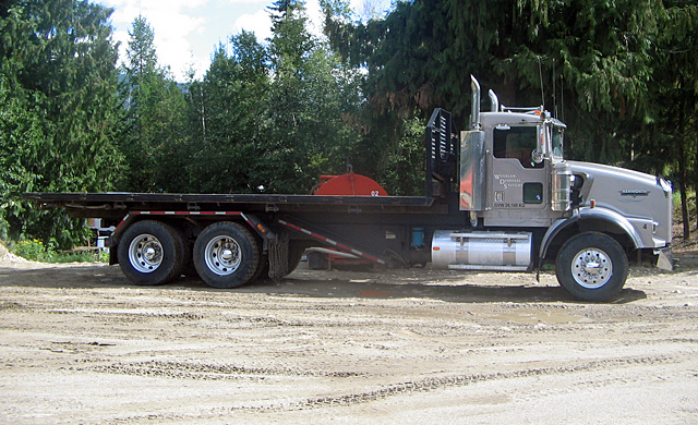 Winkler Disposal Flat Deck Truck